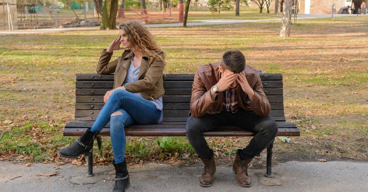 Common law Spouses Separating while sitting on a park bench